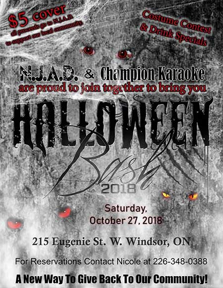 Champion Karaoke Halloween Bash Poster