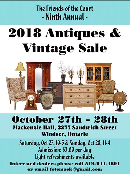Friends of the Court Antiques Show & Sale Poster