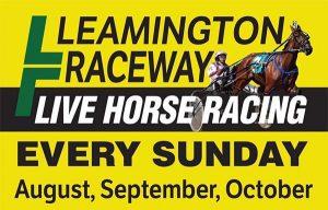 Leamington Raceway Live Horse Racing Poster