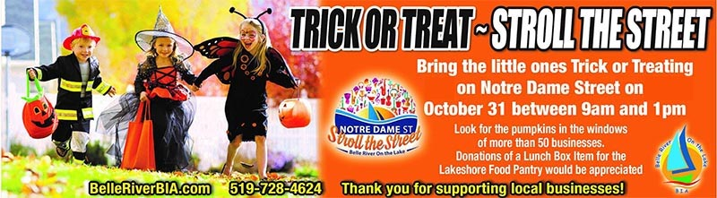 Trick or Treat Stroll The Street in Belle River