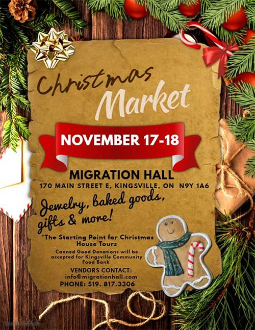 Migration Hall Christmas Market Poster