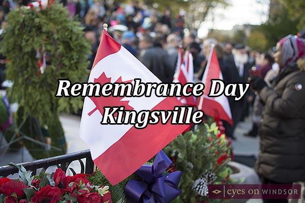Kingsville Remembrance Day Ceremony & Parade