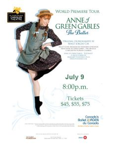 Anne of Green Gables Canada's Ballet Jörgen Poster Chrysler Theatre