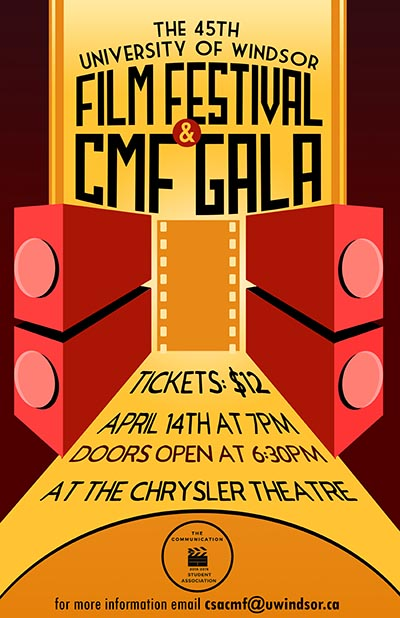 University of Windsor Film Festival & CMF Gala Poster