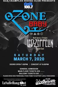 OZone Baby Led Zeppelin Tribute: Bad Examples Riders Club Annual Fundraising Concert Poster