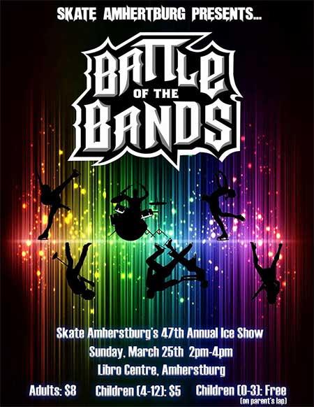 Skate Amherstburg Annual Ice Show Poster