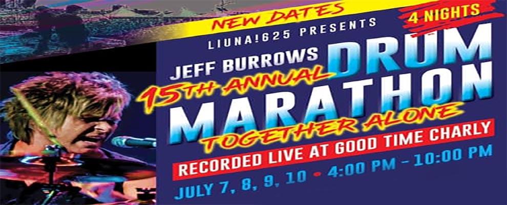 Jeff Burrows Drum Marathon Banner Ad Slider