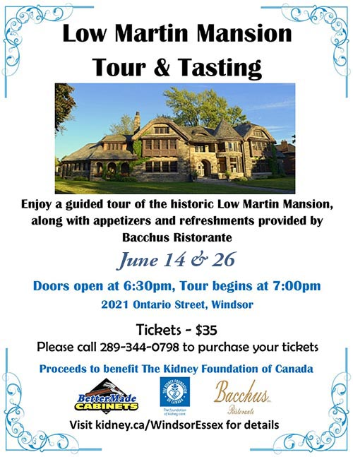 Low Martin Mansion Tour and Tasting Poster