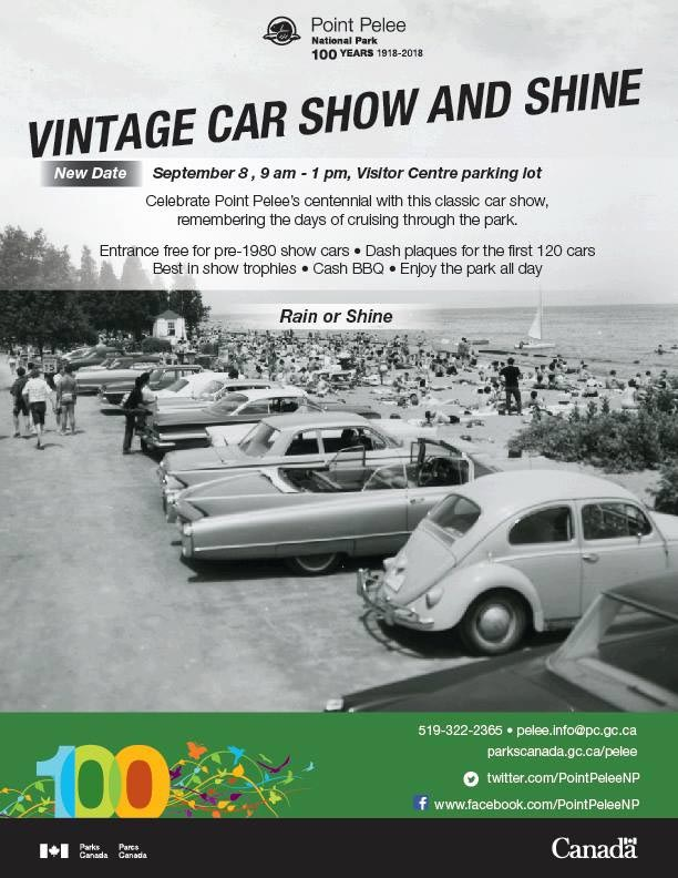 Point Pelee National Park 100 Vintage Car Show and Shine