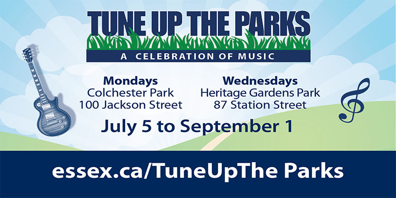 Tune Up The Parks Summer Concert Series (Essex, Colchester, Harrow, and McGregor).