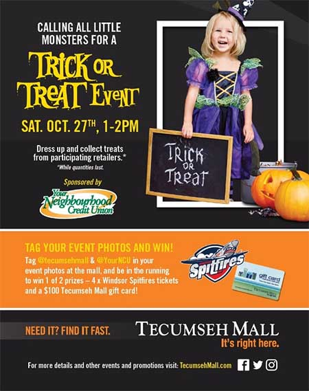Trick or Treat at Tecumseh Mall Halloween Poster