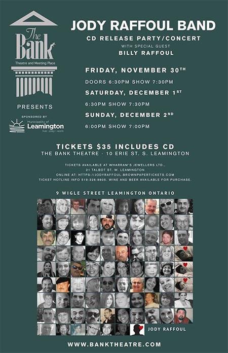 Jody Raffoul CD Release Concert Poster
