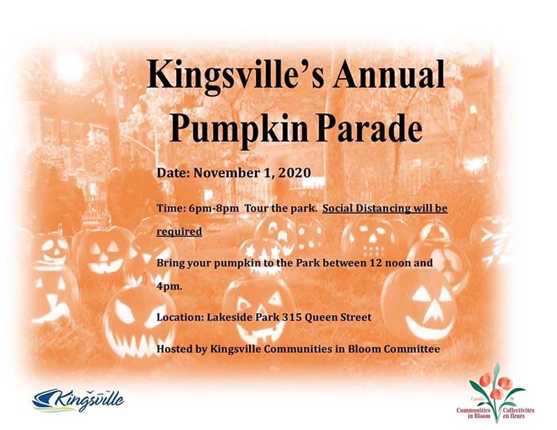 Kingsville Pumpkin Parade Poster