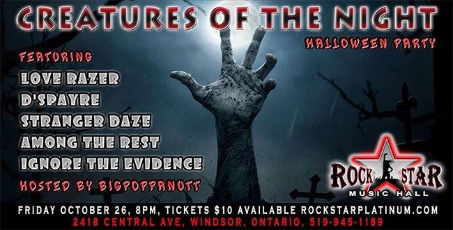 RockStar Music Hall Windsor Halloween Poster