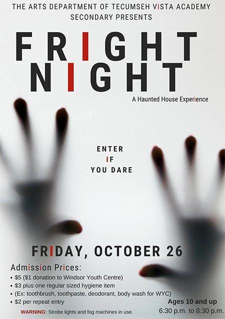 Fright Night Haunted House Experience   Tecumseh Vista Academy