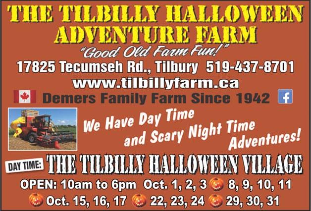 Tilbilly Halloween Village Banner