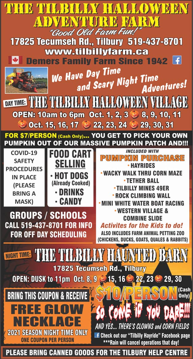 Tilbilly Halloween Village, Hayride, & Haunted Barn Poster