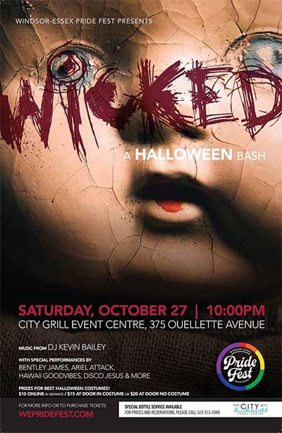 Windsor Essex Pride Fest Halloween Bash Poster (Wicked)
