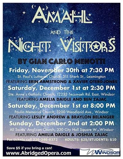 Abridged Opera Amahl & The Night Visitors Poster