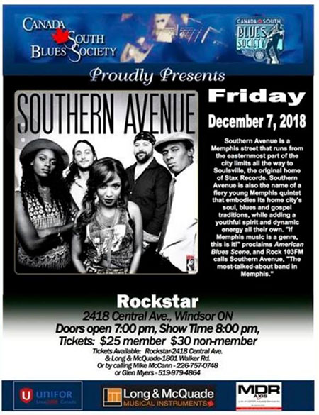Canada South Blues Society Southern Avenue Poster