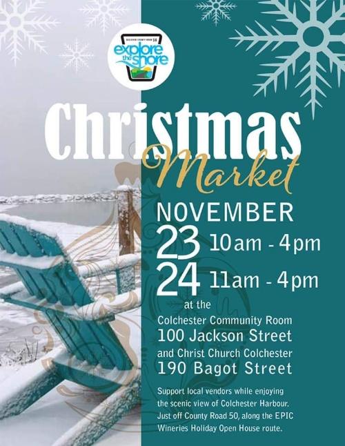 Explore The Shore Christmas Market Poster
