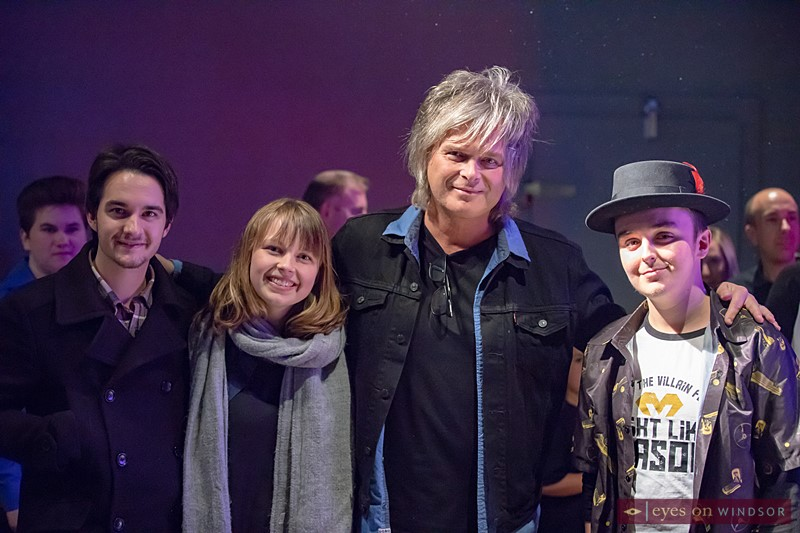 Dane Roberts (left), Madeline Doornaert, Jeff Burrows, and Justin James Jewell