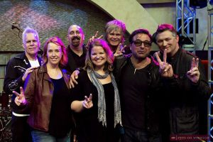 Members of the S'Aints Band, from left Kelly Hoppe, Kelly Authier, Wes Buckley, Stephanie Baker, Jeff Burrows, Jody Raffoul, and David Cyrenne