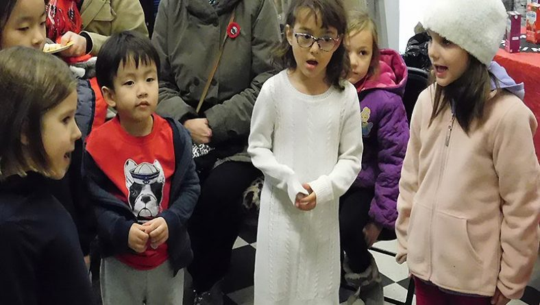 Windsor Children Sing a Song of Hope at One Ten Park on Remembrance Day