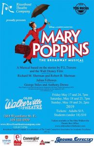 Mary Poppins Riverfront Theatre Company Poster