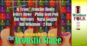 Windsor Folk Society Acoustic Stage Monthly Concert