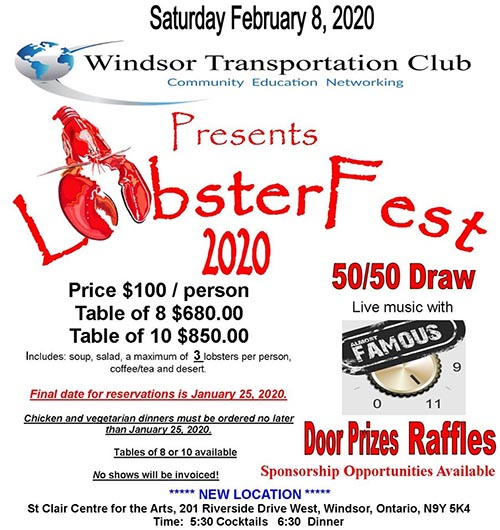 Lobster Fest Poster Windsor Transportation Club