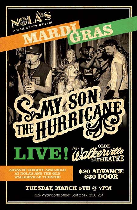 My Son The Hurricane Concert WSG The Family Soul Poster