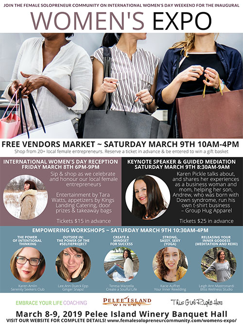 Female Solopreneur Community Women's Expo Poster