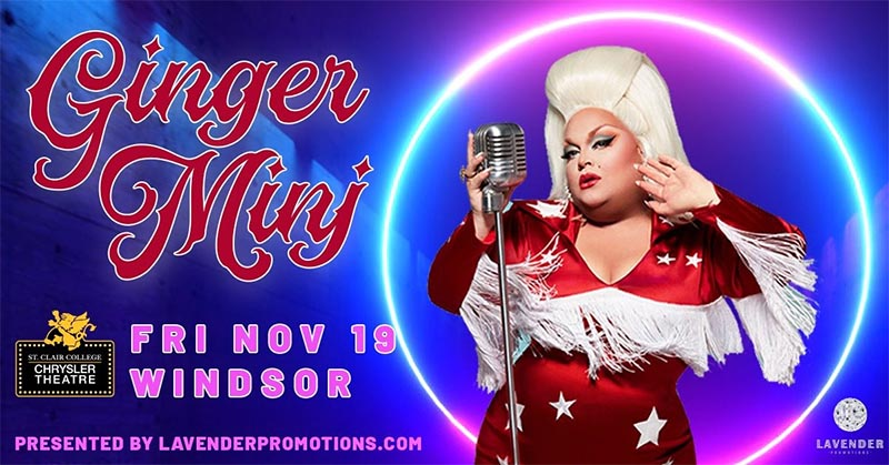 Ginger Minj Drag Queen Show Windsor