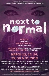 Next To Normal Poster For Cardinal Music Productions