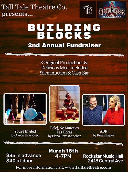 Tall Tale Theatre Co. Building Blocks Fundraiser Poster