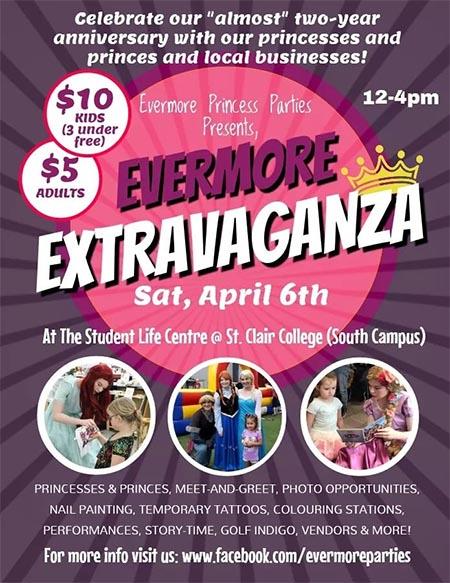 Evermore Princess Parties Evermore Extravaganza Poster