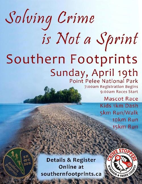 Southern Footprints Run / Walk Poster
