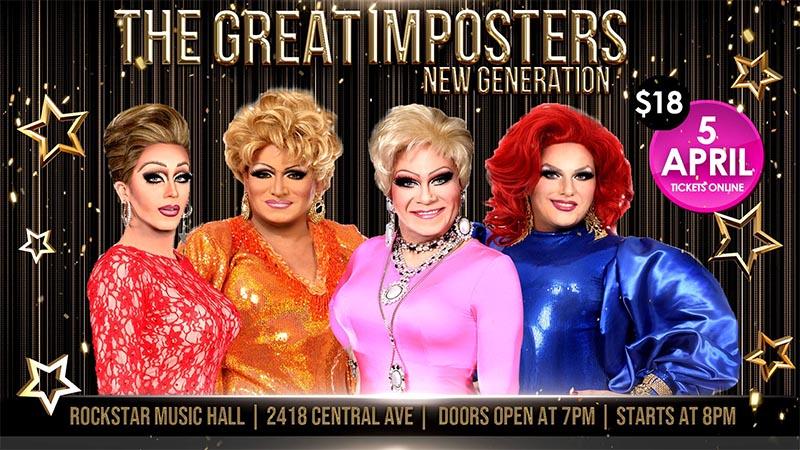 Great Imposters New Generation Drag Cabaret at Rockstar Windsor Poster