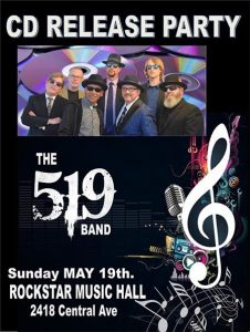 519 Band CD Release Party Poster