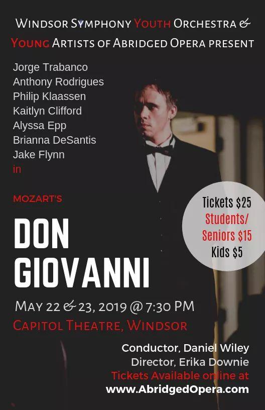 Abridged Opera Don Giovanni Poster
