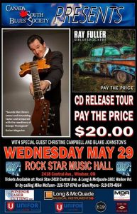 Ray Fuller and the Bluesrockers with Christine Campbell and Blake Johnston Windsor Poster