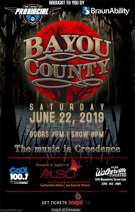 Bayou County: A Tribute To CCR Windsor Poster