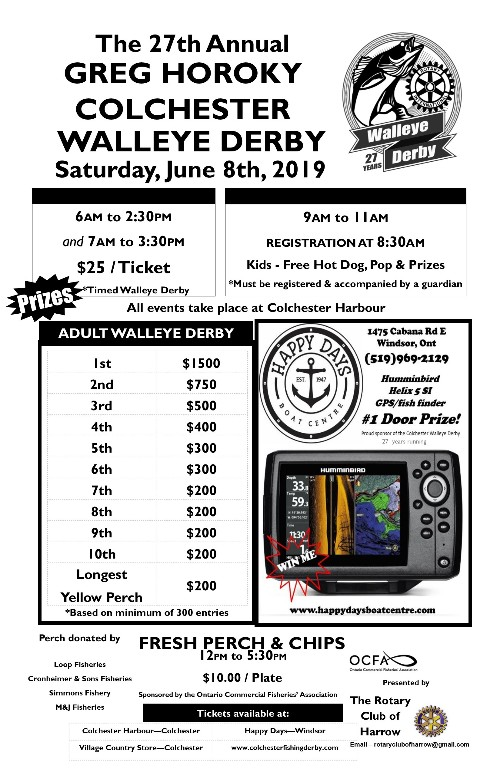 Colchester Walleye Fishing Derby Poster