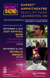 Leamington Music on the 42nd Summer Concert Series Poster