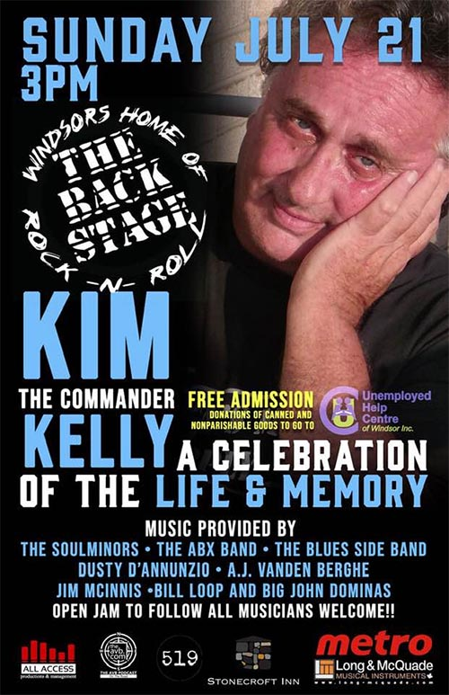 Kim The Commander Kelly Celebration of Life Poster