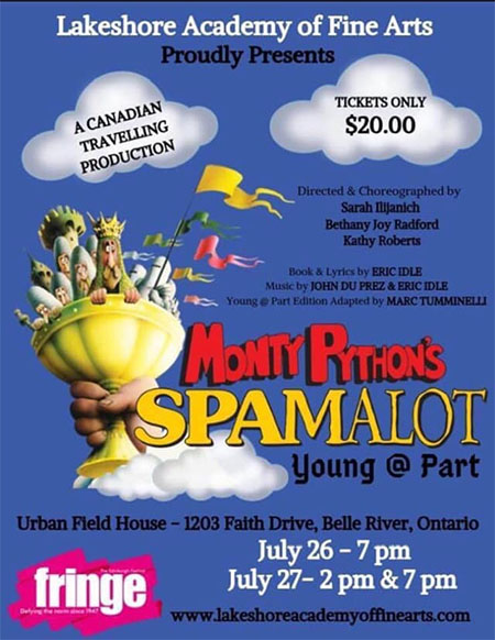 Monty Pythons Spamalot Young at Part Poster LAFA