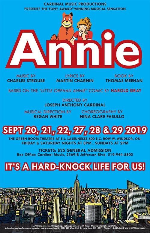 Annie The Musical by Cardinal Music Productions Poster