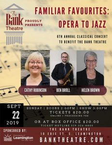 Bank Theatre Annual Classic Concert Poster