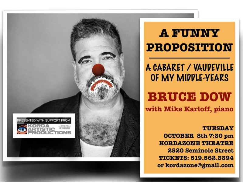 A Funny Proposition with Bruce Dow at Kordazone Theatre Poster